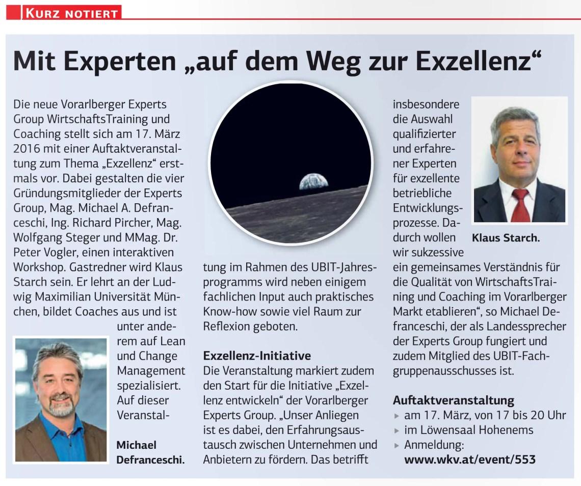 Presse Die Wirtschaft Nr. 8 und 9. vom 26. Februar 2016, S. 16