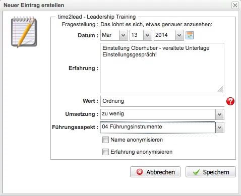 Quod.X® - Leadership Training: Beispiel