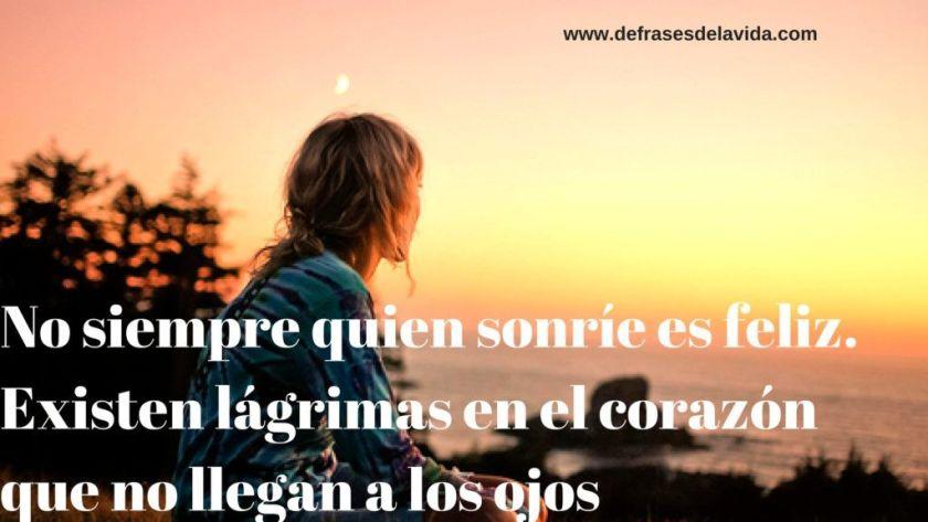 No siempre quien sonrie es felix. Existen lágrimas en el corazón que no llegan a los ojos 1024x576 - Con frases cortas de amor ❤