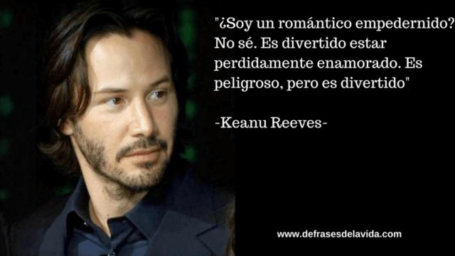 Soy un romíntico empedernido  No s®. Es divertido estar perdidamente enamorado. Es peligroso pero es divertido 640x360 - Keanu Reeves frases, mensajes de la vida