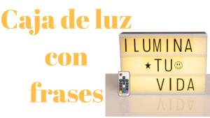 Caja de luz con frases - Delantales con frases