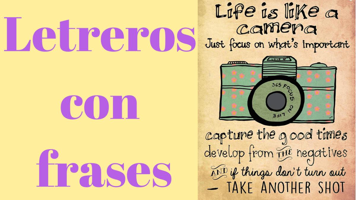 Letreros con frases