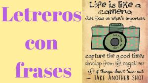 Letreros con frases - Mantas con frases