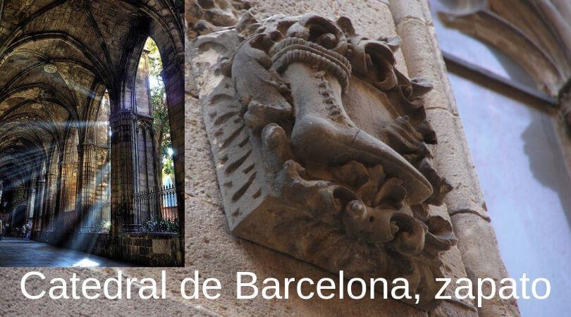 Catedral de Barcelona zapato - Barcelona frases