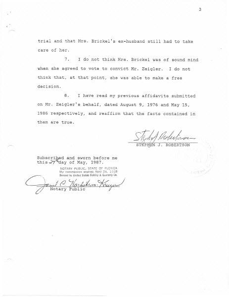 Affidavit Of Defense Florida Palm Beach County