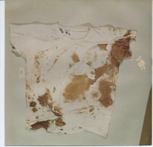 the front of Zeigler's shirt