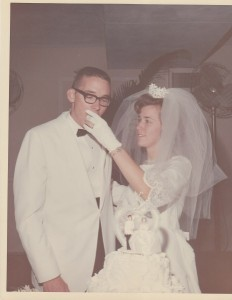 Eunice and Tommy Zeigler on their wedding day