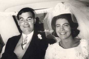 The Crewes at their wedding