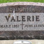 Valerie's gravestone in the New Hampton Cemetery. (Courtesy Duane Heit, findagrave.com)