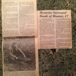 Newspaper articles courtesy Carlson Family