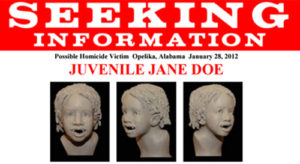 FBI Poster Jane Doe Lee County AL