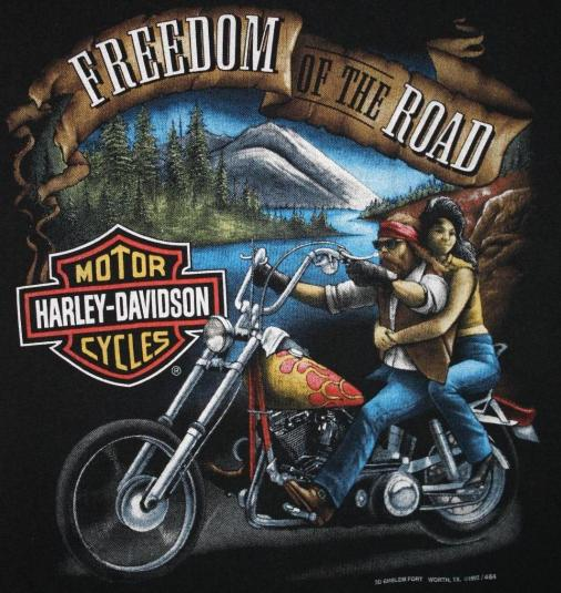 3d Beach Wallpaper Cost Vintage 3d Emblem Harley Davidson Freedom T Shirt