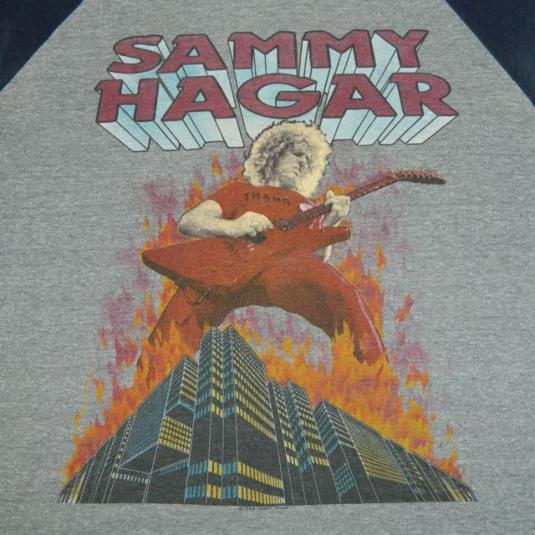 vintage SAMMY HAGAR 1983 TOUR TShirt jersey concert 80s