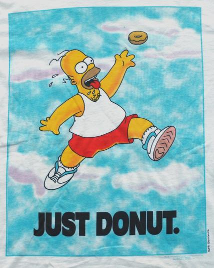 Volleyball Wallpaper Quotes Vintage 1990s Homer Simpson Just Donut Nike Style T Shirt