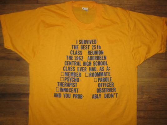 Vintage 1987 Aberdeen High School reunion tshirt