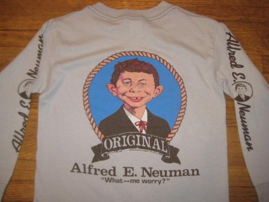 Vintage 1980s Mad Magazine Alfred E Neuman tshirt XSS