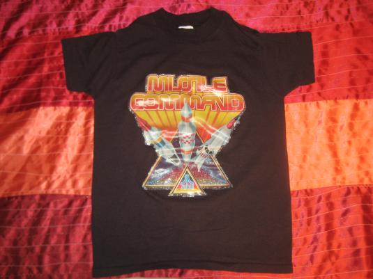 Vintage 1980s Missile Command video game tshirt youth M