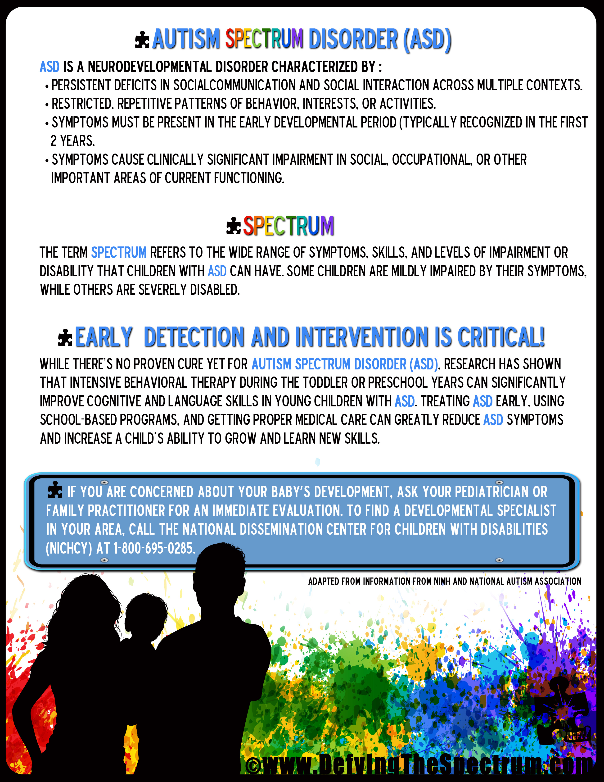Early Detection and Intervention is Critical Day 7 30 Autism