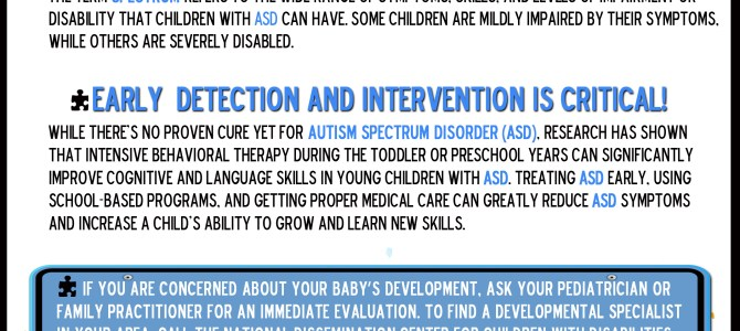 Autism – Early Intervention is Critical For Future Success
