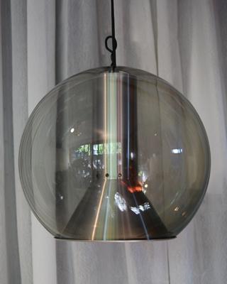 Mooie 60e jaren retro globe hanglamp  DE GELE ETALAGE