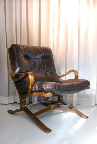 Deense retro jaren 70 vintage fauteuil  DE GELE ETALAGE