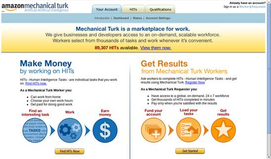 Captura del sitio web de Amazon El turco mecánico