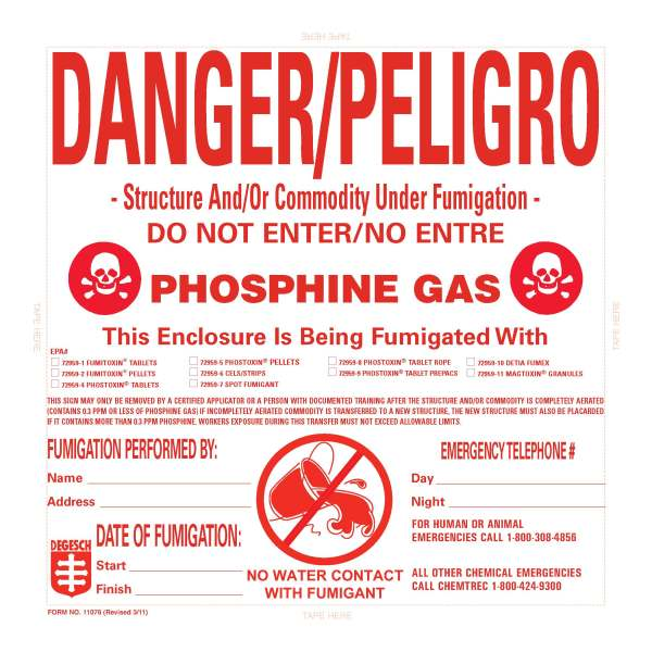 Structural Fumigation Placard