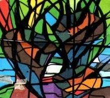 Ontwerpen voor glas in lood de glazen zee - Geloof glas ingerichte ...