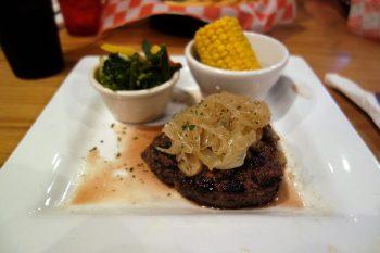 Steak met groenten