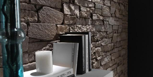 Steenpanelen natuurstenen muur uitstraling de graaf bv for Interieur steen