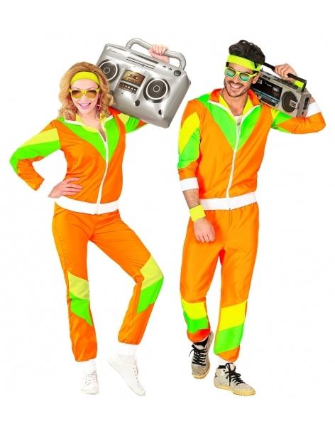 deguisement survetement annee 80 orange veste pantalon