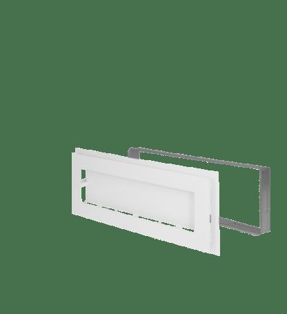 Ventilatierooster Decco 20x50 wit