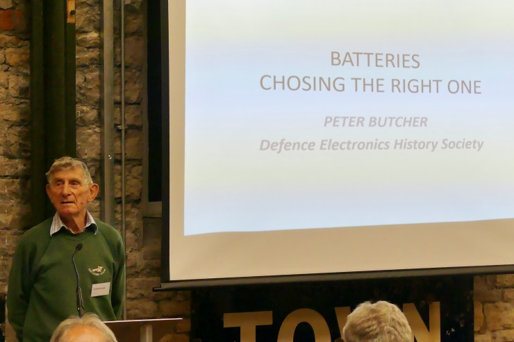 DEHS Burns Spring Lecture 2019 speaker Peter Butcher. Photo by Dick Green.
