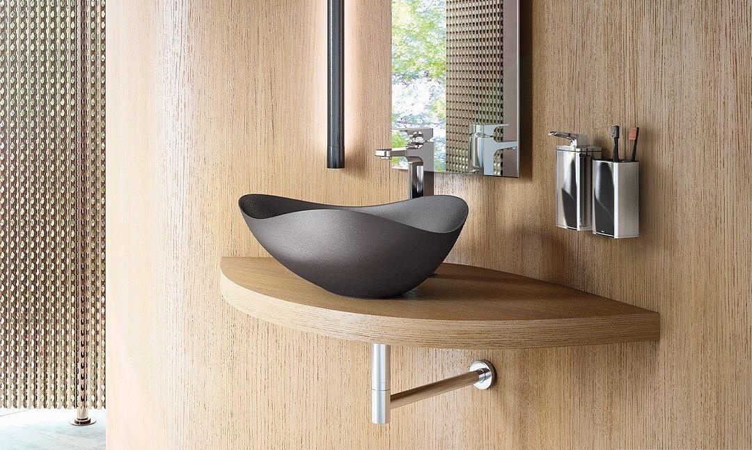 Acerte na escolha: além da utilidade, as cubas e metais fazem parte da decoração e incrementam banheiros e lavabos