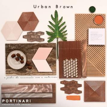 Portinari moodboard Urban Brown reconexão com a natureza
