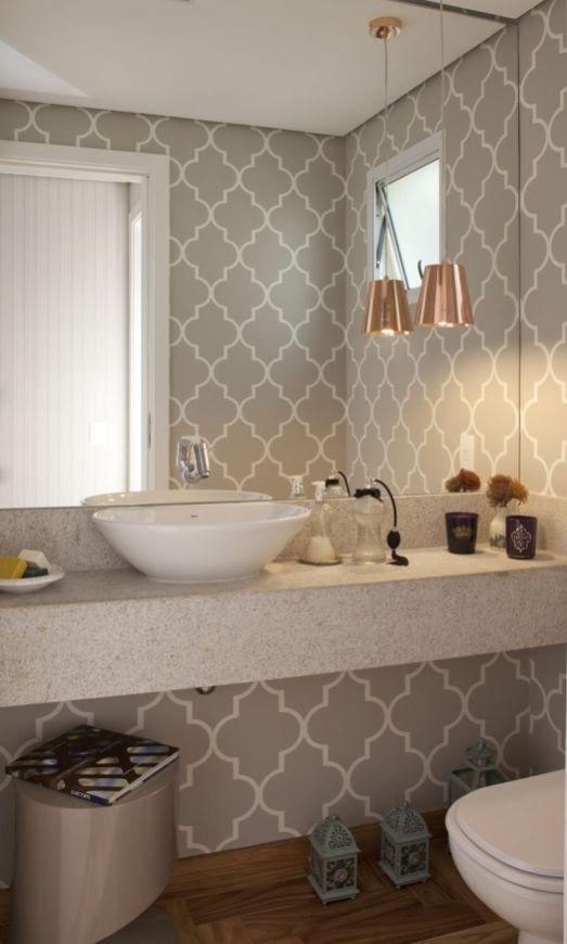 Papel de parede banheiro_lavabo