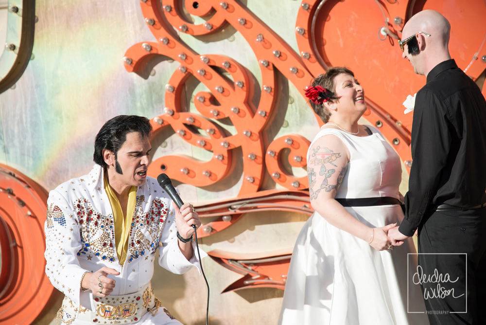 elvis neon museum wedding