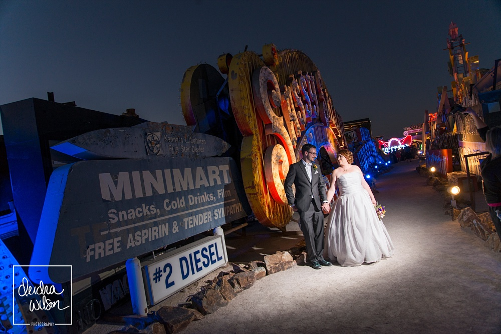 neon boneyard wedding