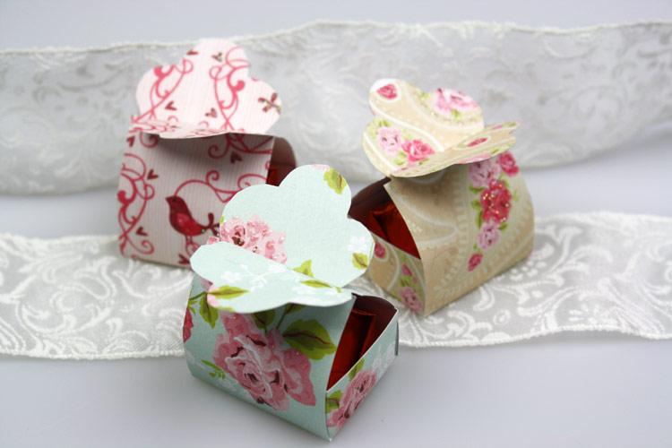 Geschenkschachtel Pralinen schn verpacken