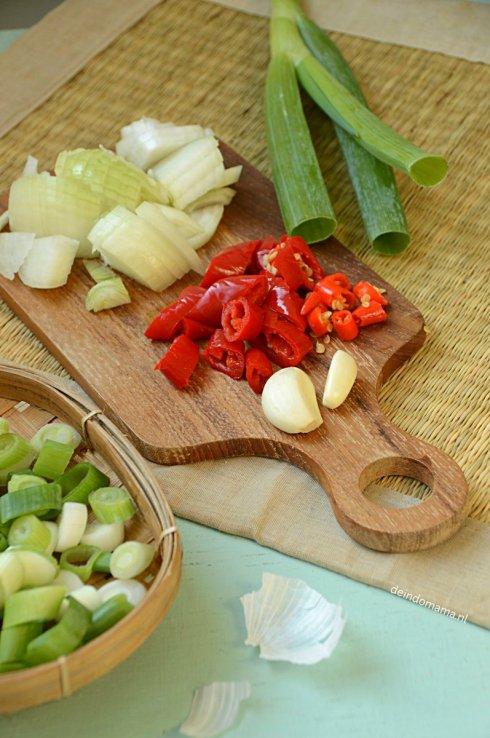Voorbereiding- nasi- goreng