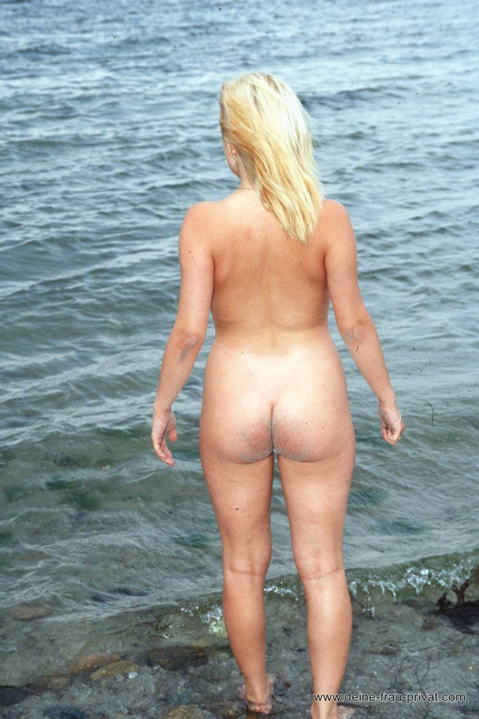 Nackter Arsch Am Strand