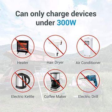 Hochleistungsakku Generator 400Wh Tragbare Energiespeicher mit Lithium-Ionen Zellen Solar Generator(Super Leichtgewicht, nur 5,6 kg,ladbar über die Steckdose, Solarzellen, 12V – Autosteckdose) - 4