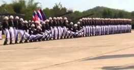laola militaerparade in thailand