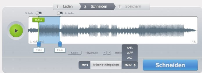 mp3 schneiden mit mp3cut