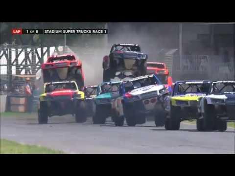 pickup truckrennen mit sprungsch