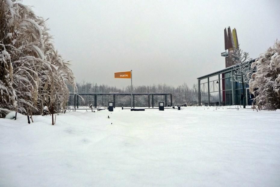 regionalpark portal schnee winter