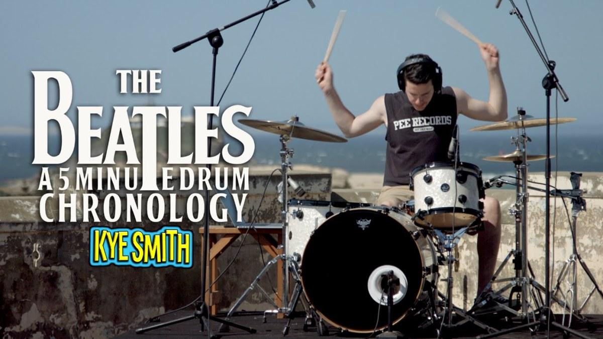 the beatles a  minute drum chro