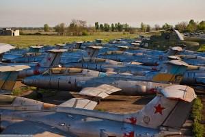 verlassenes russisches flugfeld