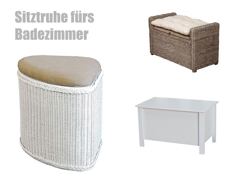 Sitztruhe Bad  Badezimmer