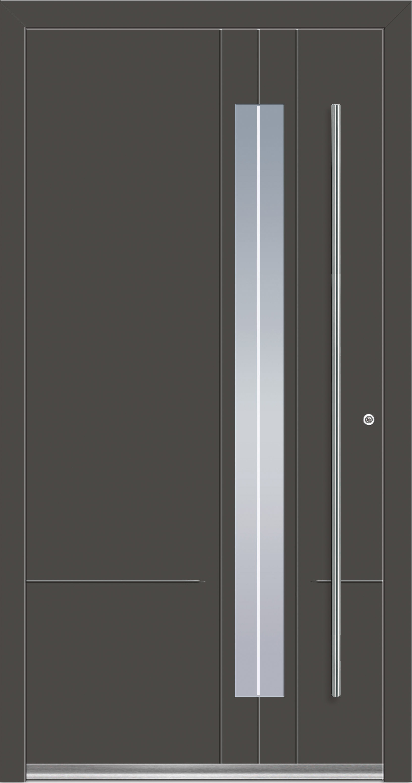 Rocket 8 Aluminium Haustur Mit Glasausschnitt